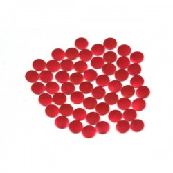 Nailhead studs Round 6 mm Mt. Red