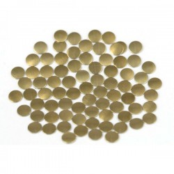 Nailhead studs Round 6 mm Brown