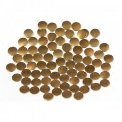Nailhead studs Round 6 mm Dk. Brown