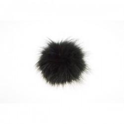 Pompon naturalny z lisa 10cm Czarny
