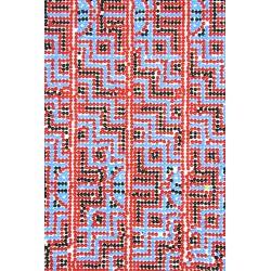 Arkusz termoprzylepny z koralikami Tetris 24x40 cm