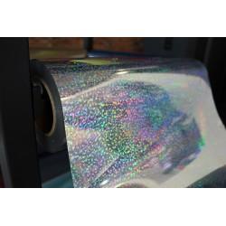 Folia holograficzna cekiny Srebrna 1mb (50x100cm)