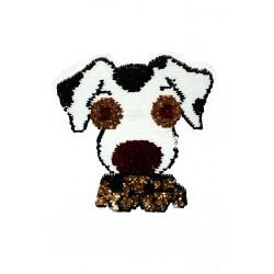 Aplikacja z cekinami odwracalnymi Pies