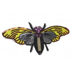 Aplikacja z cekinów Owad Motyl