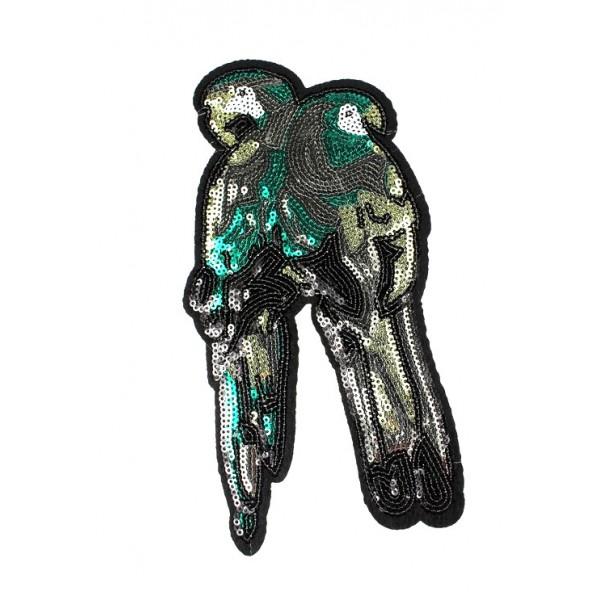 Aplikacja z cekinami termoprzylepna Papugi