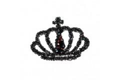 Aplikacja biżuteryjna termoprzylepna Korona hematytowa 35x45 mm