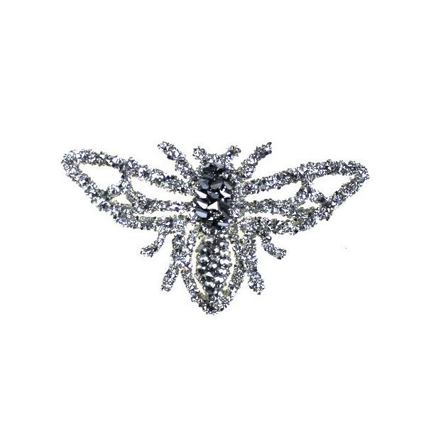 Aplikacja biżuteryjna termoprzylepna Owad Mucha 50x85mm