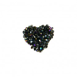 Aplikacja biżuteryjna termoprzylepna Serduszko 15x15 mm