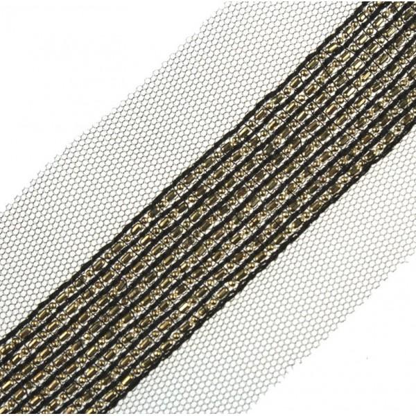 Taśma siateczka elegancka ze złotym łańcuszkiem TL05