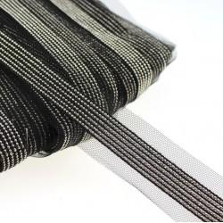 Taśma siateczka elegancka ze srebrnym łańcuszkiem TL06