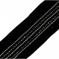 Taśma do wszycia z dżetami 35 mm czarna