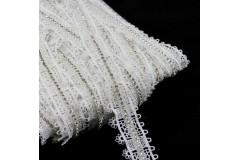 Taśma koronkowa elegancka biała TL19