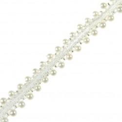 Taśma z perełkami Biała TL23