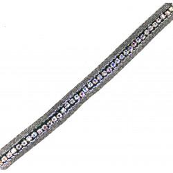 Taśma ozdobna z łańcuszkiem dżetów 10 mm TL43