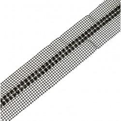 Taśma siatka dżety w koszyczkach 4 cm TS3