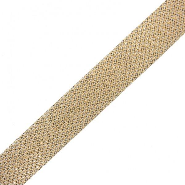 Taśma do wszycia złota błyszcząca 20 mm