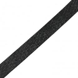 Taśma do wszycia elastyczna czarna błyszcząca 20 mm