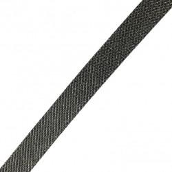 Taśma do wszycia elastyczna czarna błyszcząca siateczka 20 mm