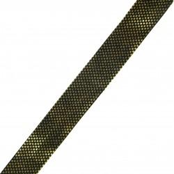 Taśma do wszycia czarna ze złotą kropeczką 20 mm