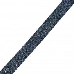 Taśma do wszycia niebieska srebrna 20 mm