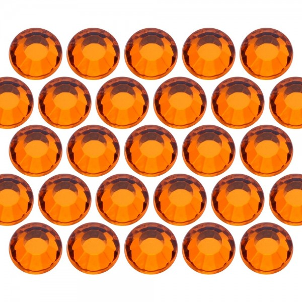 Glass rhinestone beads SS6 (2mm) Orange