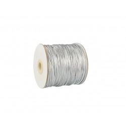 Guma sznurek do maseczek 2mm Srebrny
