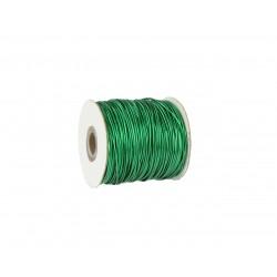 Gumosznurek metaliczny 1,5mm Zielony 1mb