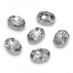 Kamienie do naszywania Elipsa 13x18 mm Crystal