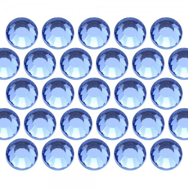 Glass rhinestone beads SS6 (2mm) Lt. Sapphire