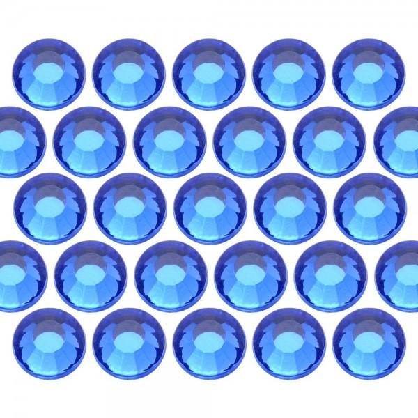Glass rhinestone beads SS6 (2mm) Sapphire