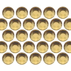 Glass rhinestone beads SS6 (2mm) Lt. Topaz