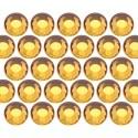 Glass rhinestone beads SS6 (2mm) Topaz