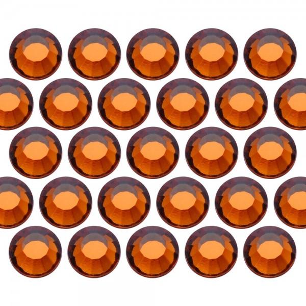 Glass rhinestone beads SS6 (2mm) Sm. Topaz