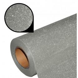 Folia glitter PU GL02 silver gold