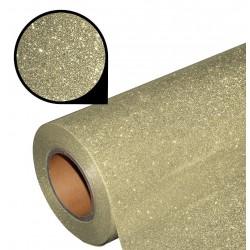 Folia glitter PU GL03 pastel gold