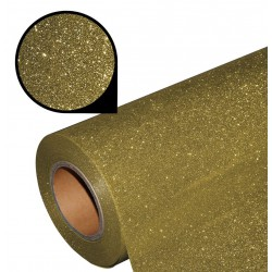 Folia glitter PU GL04 light gold