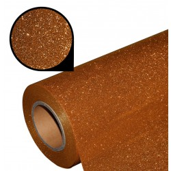 Folia glitter PU GL07 copper