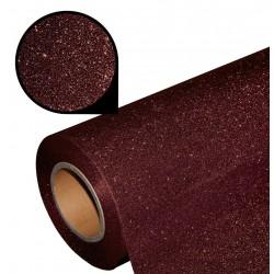 Folia glitter PU GL08 brown