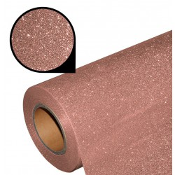 Folia glitter PU GL09 rose gold