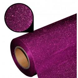 Folia glitter PU GL15 deep pink