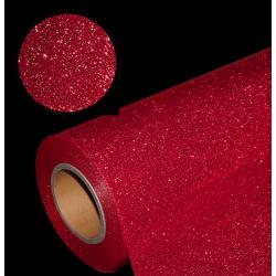Folia glitter PU GL19 red