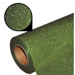 Folia glitter PU GL22 khaki