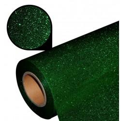 Folia glitter PU GL23 dark green