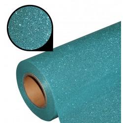 Folia glitter PU GL25 steel blue