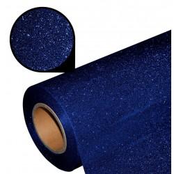 Folia glitter PU GL30 navy