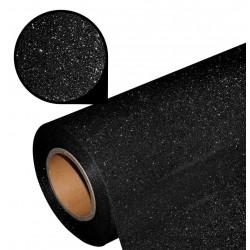 Folia glitter PU GL32 black