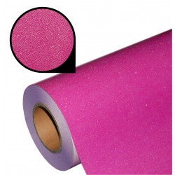 Folia glitter PU GL43 neon pink