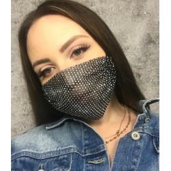 Maska Maseczka ochronna na twarz zdobiona cyrkoniami