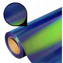 Folia glass glitter PU GG02 blue