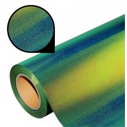Folia glass glitter PU GG03 green